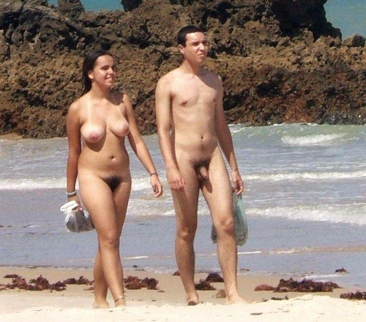 Amusing moment Hairy pussy nude beach pity, that