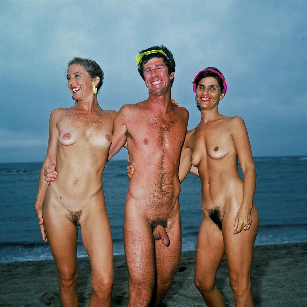 naked family on a nude beach showing family huge saggy breasts and