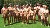 Big nudist photo with a lot of small and huge breasts and hairy cunts and some guys with tiny hairy cocks