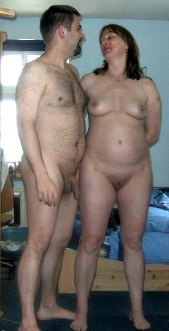 Nudist couple touching dick situation