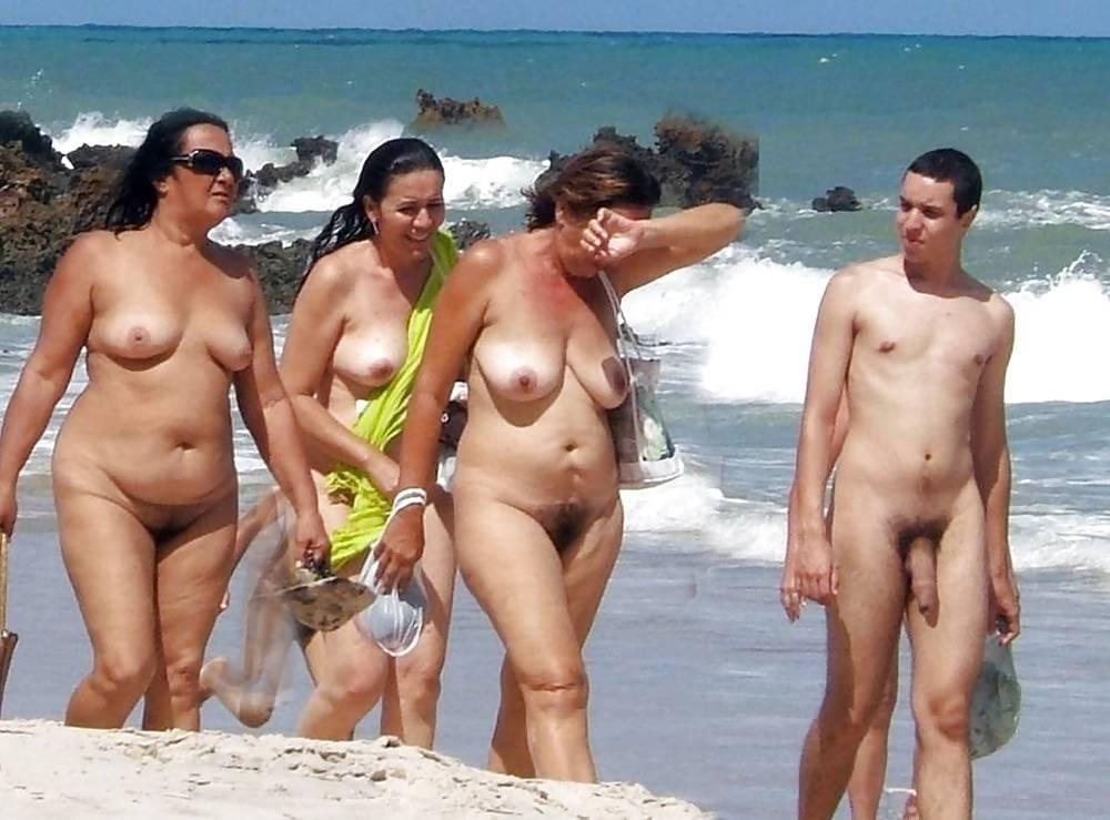 Take hubby on gay beach