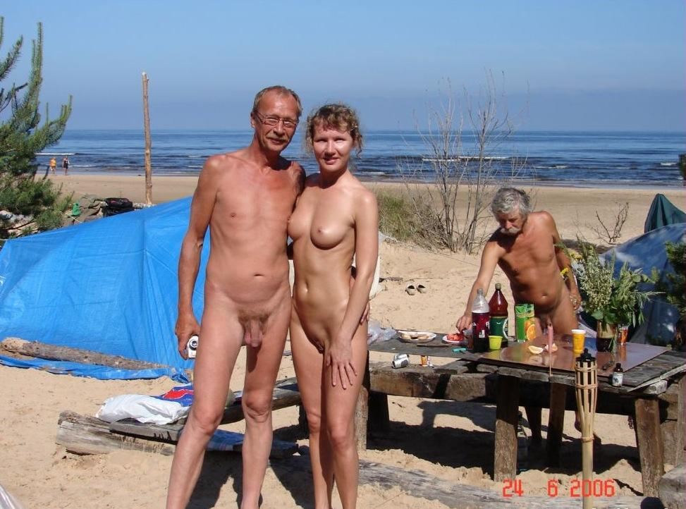 Camp family nudist