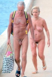 Grandad with small hairy cock and grandma with saggy tits and trimmed pussy