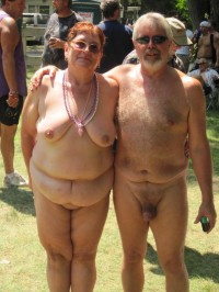 Grandfather with thick shaved cock and fat grandmother with saggy tits