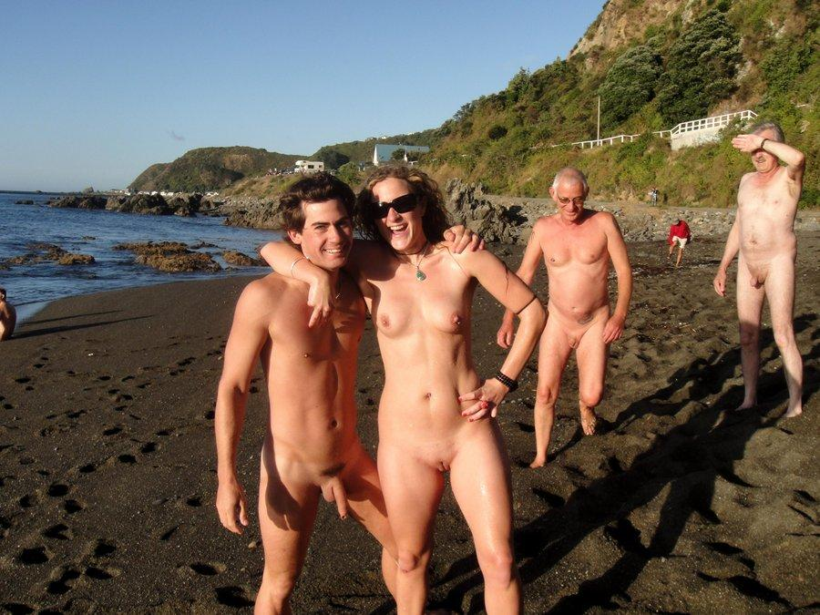For Teen naked couple on beach apologise, but