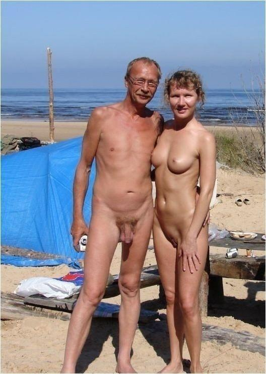 Naked grandpa uncut massive cock happiness!
