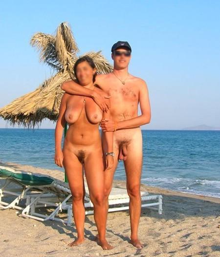Mom and son nude beach