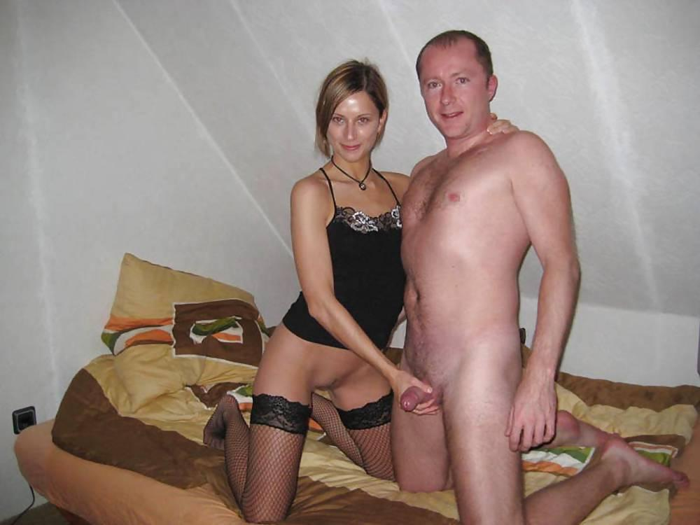 cock holding Mature wife