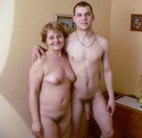My grandmother with big hairy pussy loves my huge hairy cock