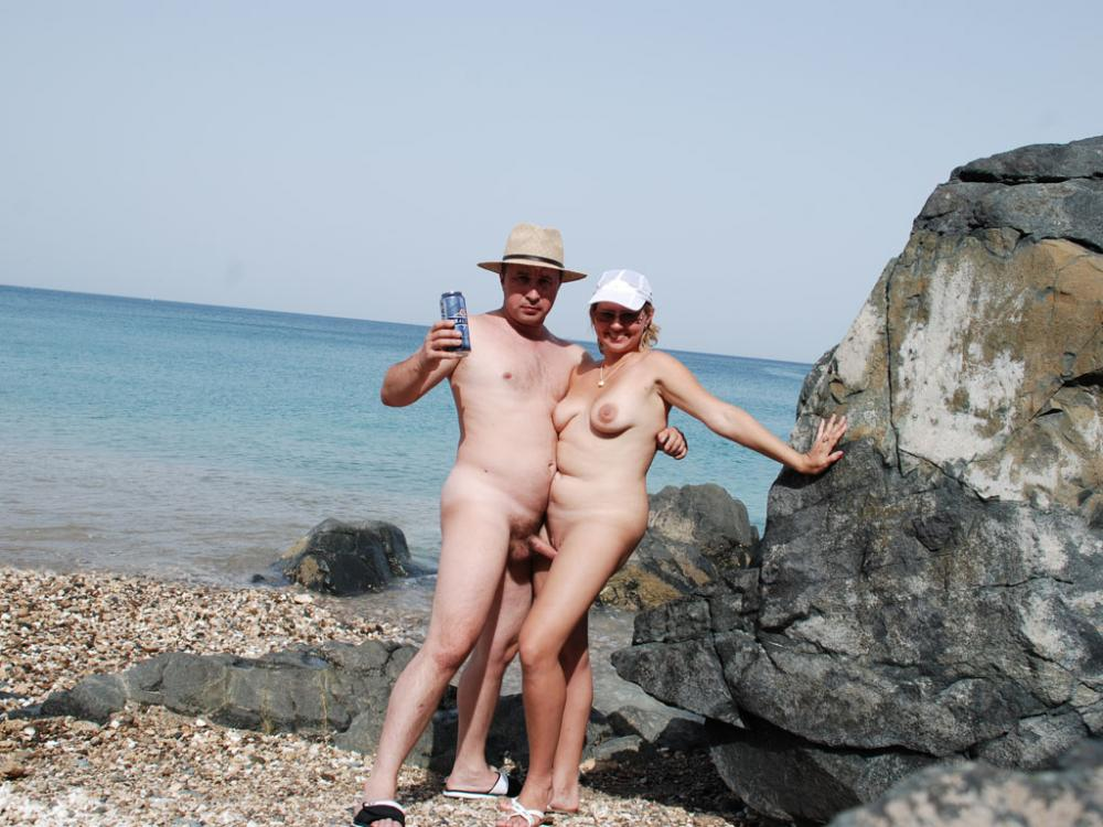 Husband and wife nude beach