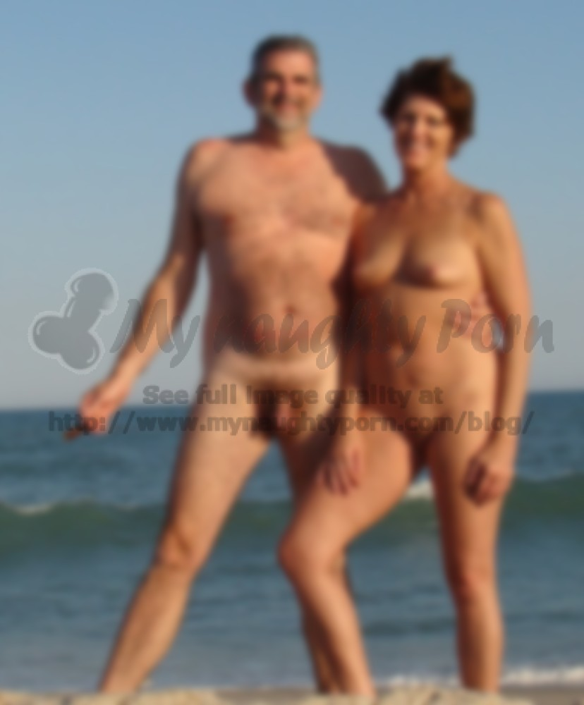 my husband with tiny small hairy cock loves to go to nude beach with
