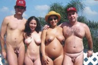 My whole naked family together