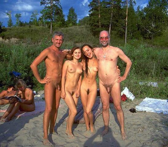 nude hairy nudists family