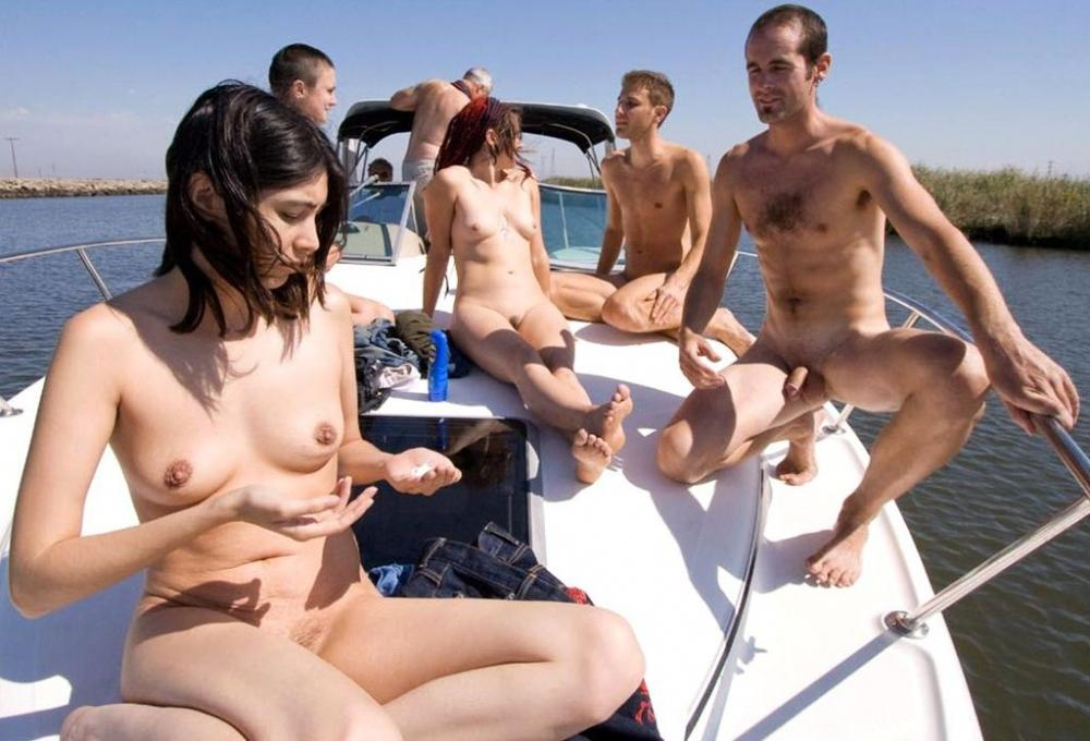 Boat on nudist families