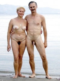 Naked Old People On The Beach