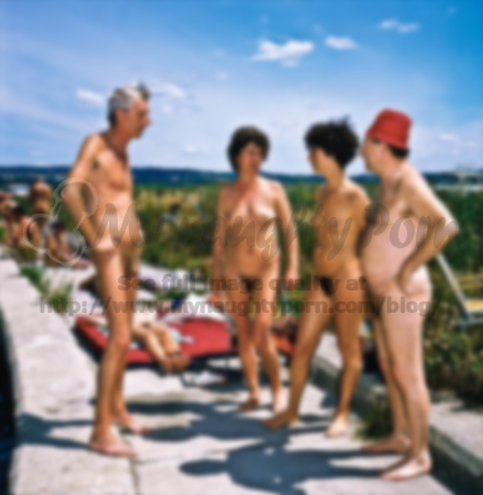 older couples on a nude beach showing their flabby tits and huge