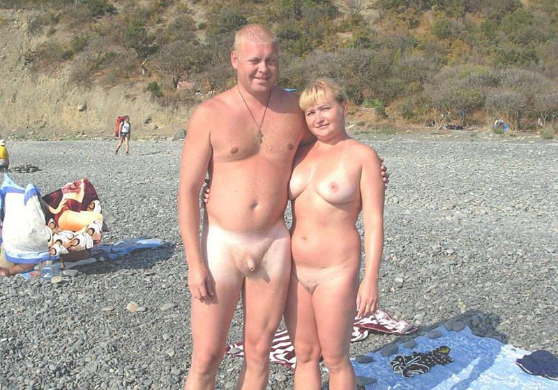 Couples naked beach