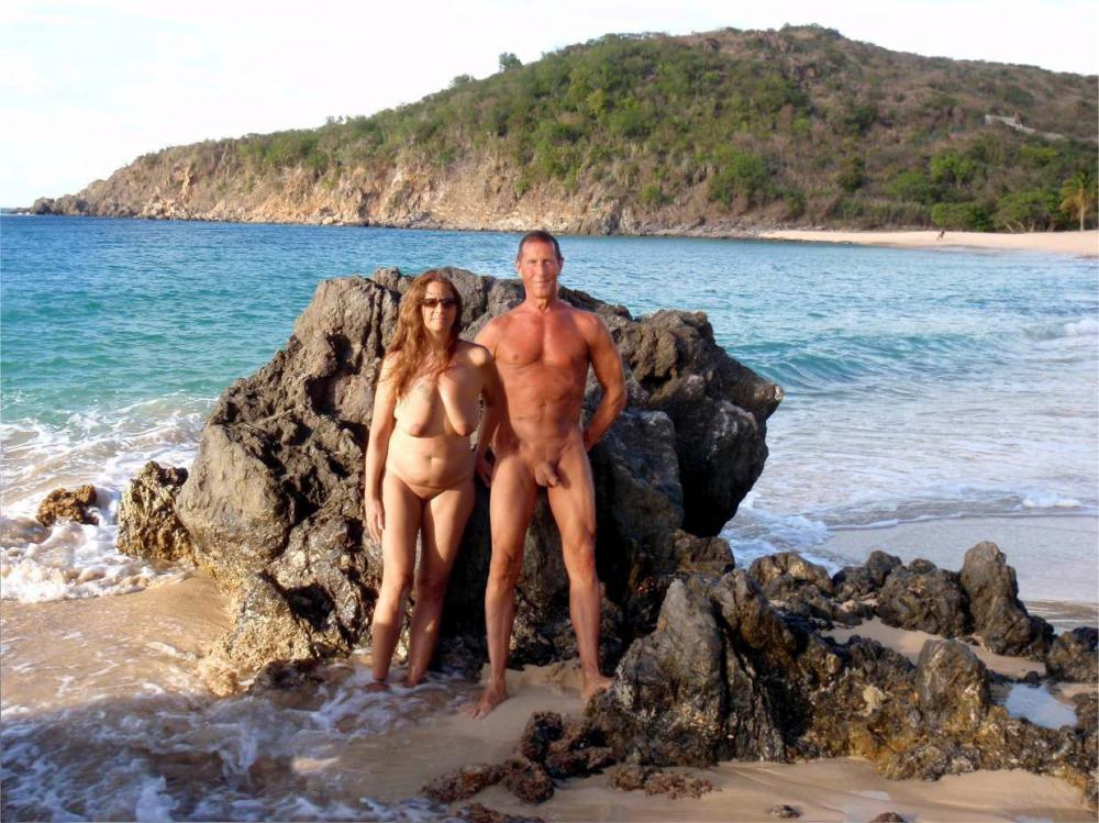 Nude beach with wife