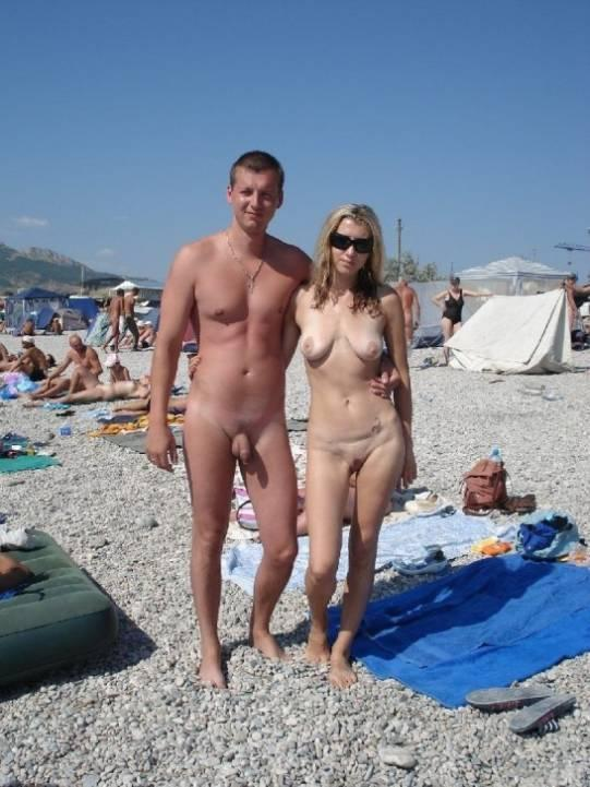 Only shaved nudes at the beach