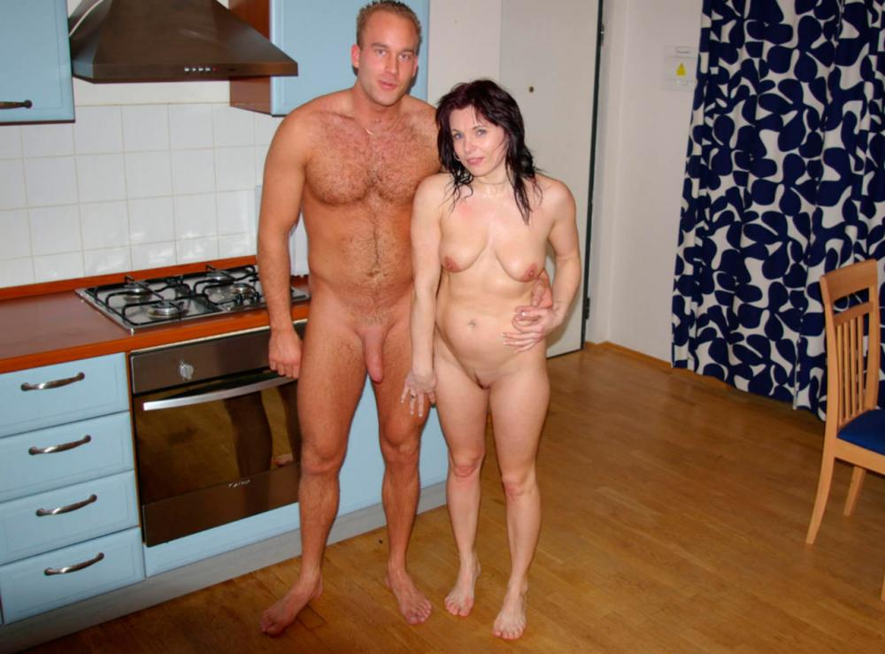 Family Naked At Home