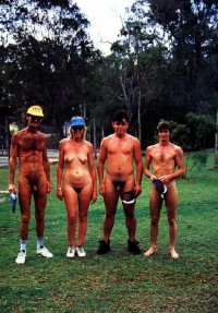 We like to play golf naked and proudly show our guys with tiny hairy penises and girls with flabby tits and hairy cunts