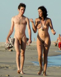 Young nude couple beach, how to make a naked woman cake