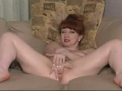 British Slut red plays with herself and then gets fucked