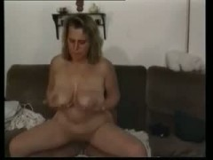Plump mom with hairy cunt big saggy boobs