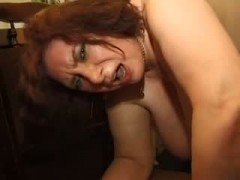 Czech redhead Michaela lapdances and masturbates
