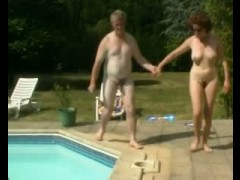 Hairy mature outdoor fisted and toyed