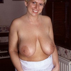 Czech Busty Saggy Tits Playing with Young Man